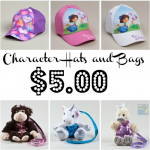 Character Hats and Bags from $5.00!