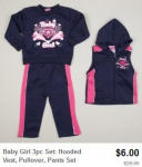 3 Piece Clothing Sets ONLY $6.00, Plus FREE Shipping Option!