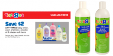 Toys R Us Shampoo, Conditioner and Body Wash As Low As $.33 Each!