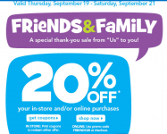 Toys R Us and Babies R Us – Friends & Family Event – Get 20% off (LAST DAY)