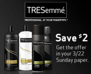 *HOT* $2 Off TRESemme Coupons In Sunday Paper