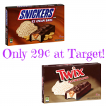 Snickers or Twix Ice Cream Bars Only 29¢ at Target!