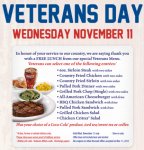 FREE Meal at Texas Roadhouse For Veterans on 11/11!