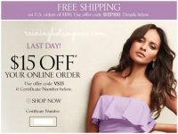 Victoria's Secret: $15 off of $15= FREE Items!
