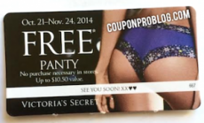 FREE Panty from Victoria's Secret ($10.50 Value!)