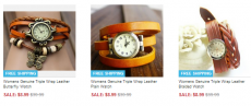 Genuine Leather Triple Wrap Watches Only $8.99 (Reg. $39.99!)