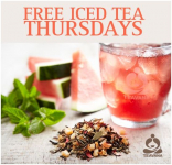 FREE Watermelon Mint Chiller Iced Tea at Teavana (Today Only)