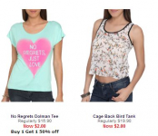 WetSeal: 50% Off Clearance, Extra 10% off, + Free Shipping! Items under $1!!!