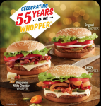 $0.55 Whopper at Burger King! Ends Today!