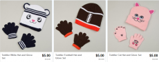 Winter Hat and Glove Sets for Kids Only $5.00 + Free Shipping Option!
