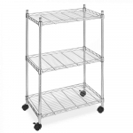 Wire Shelving Cart Unit 3 Shelves w/casters only $24.99 (reg $74.98)