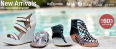 Women's Sandals at 60% off + FREE Shipping!