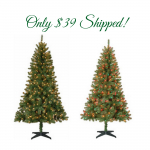 Holiday Time 6.5 ' Pre-Lit Christmas Trees Only $39 Shipped!