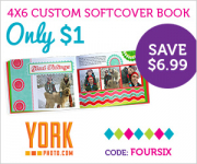 4×6 Custom Softcover Photo Book only $3.99 shipped!