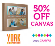 50% off Photo Canvas Orders from York Photo!