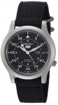 Seiko 5 Automatic Stainless Steel Watch with Black Canvas Strap $79.99 (REG $195.00)
