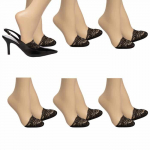 6 Pairs Appleseed's Padded Lace Non-Slip Toe Cover Half Socks – $2.00(REG$24)